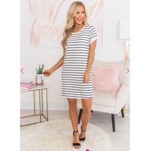 6ea2f0a0dff430 Pink Lily Boutique. Pink Lily Boutique Striped Mini Dress. NWT